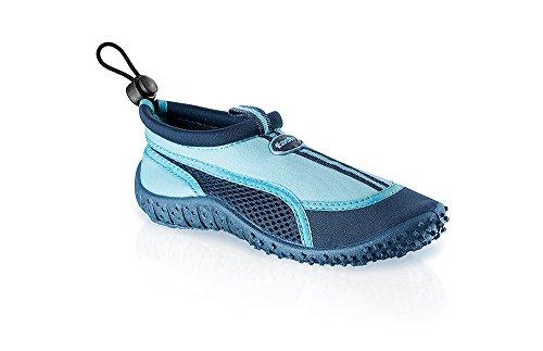 Fashy® Niños Outdoor Sport de y schwimmschuhe Aqua Guantes de neopreno y malla con TPR de suela (fabricado en Alemania) azul marino/azul claro