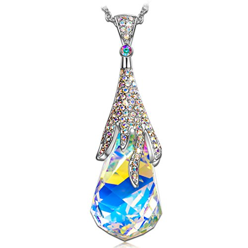 "KATE LYNN ""Crystal Ball"" Pendant Necklace Made with Swarovski Crystals"