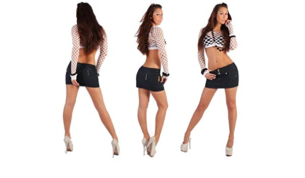 Mujer Rock Jeans Minifalda Mini Rock Jeans Rock Gogo Mujer Piel ...