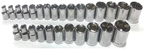 "New Craftsman 27 Pc Sae Standard & Metric 3/8"" Drive 6 Point Socket Set"