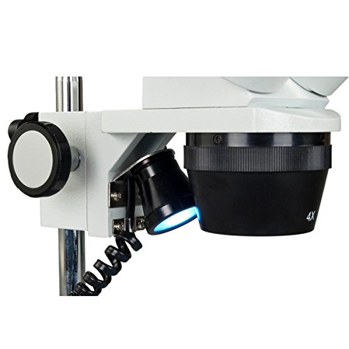 OMAX 20X-40X-80 Dual LED 3D Stereo Microscope with Multi-Power (Batteries and AC Adapter) and All Metal Frame