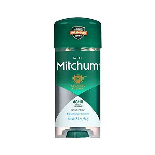 - Mitchum Advanced Anti-Perspirant & Deodorant For Men, Gel, Unscented, 3.4-Ounce Stick (Pack of 4)