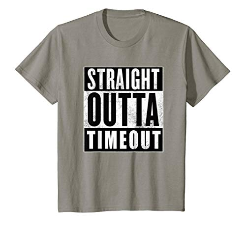 (Kids Straight Outta Out of Timeout Time Toddler Kids T-shirt)