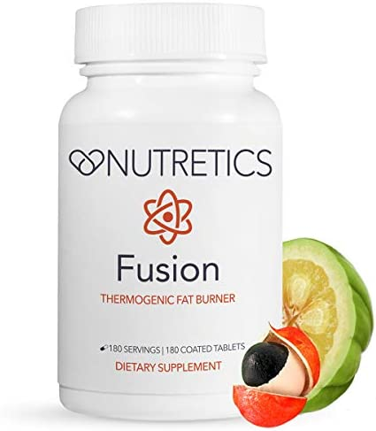 Nutretics Fusion Thermogenic Fat Burner for Men and Women – Weight Loss Supplement Diet Pills Support Fat Burning,Muscle Preservation,Boosted Metabolism,Clean Energy Appetite Suppression,180 Tablets