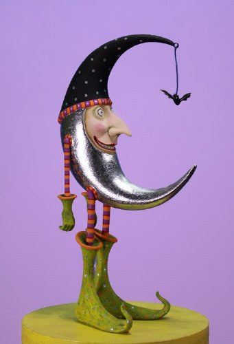 Patience Brewster Halloween Bat Moon Figure -