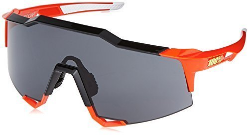 100% unisex-adult Sunglasses (Fire,Smoke,Small) (PERFORMANCE Speedcraft Red - 100% Sunglasses