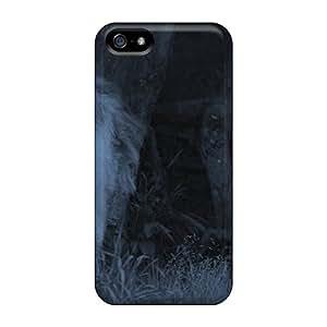 New Tpu Hard Case Premium Iphone 5/5s Skin Case Cover(dark Night Wolves)
