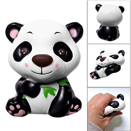 (Moj Moj Squishys Toy, Mochi Squishies Animal Toys Birthday Party Favors Scented Slow Rising Stress Reliever Squeeze Toys, Kawaii Cartoon Panda Squishy Soft Mini Toy for Adults Kids (Multicolor))