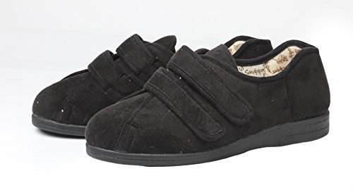 4e Wide Black Extra Slippers Ladies 6e Mandy Fitting n6fEzS