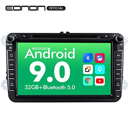 Eonon Double Din Android 9.0 Car Stereo Radio, 8 Inch Head Unit with Android Auto and Apple Carplay Bluetooth 5.0,Support Fender System, FastBoot Applicable to Volkswagen/SEAT/Skoda GA9353