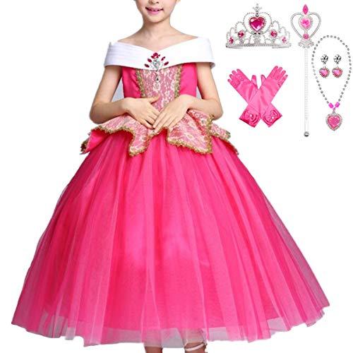 IWFREE Disfraz de Princesa Aurora La Bella Durmiente Niña ...