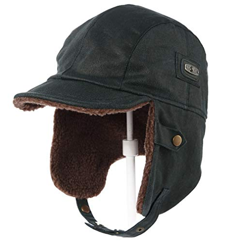 Winter Bomber Hat Adult Pilot Aviator Cap With Earflap Windproof Ushanka Hunting Hat