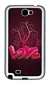 3D Heart And Tree Personalized Samsung Galaxy Note 2/ Note II/ N7100 Case and Cover - TPU - Black