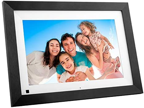 BSIMB Digital Picture Frame Wooden 10.1 Inch WiFi 16GB Digital Photo Frame 1280×800 IPS Auto Rotate Motion Sensor Add Photos Videos from iPhone Android App Twitter Facebook Email W10B