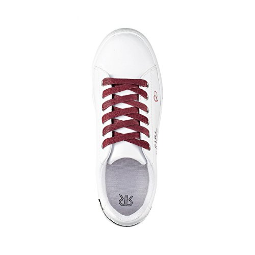 La Redoute Collections Frau Sneakers mit quotGirl Powerquotmotiven Gre 36 Weiss