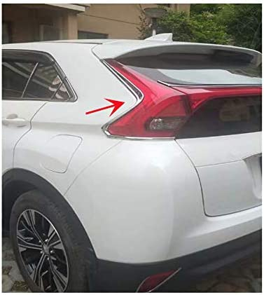 2 unidades 2 cubiertas para l/ámpara trasera de ABS cromadas para Eclipse Cross 2018 2019 2020