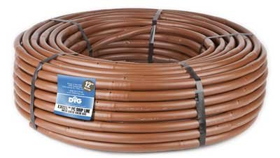 Line Drip (DIG Corporation PC Dripline, 100' Brown, 12