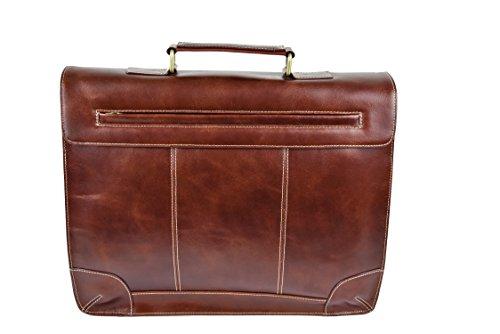 39x30x10 Misure tracolla Colore Cartella a in pelle Marrone documenti Borsa cms Zerimar per executive wB7xCnwRq