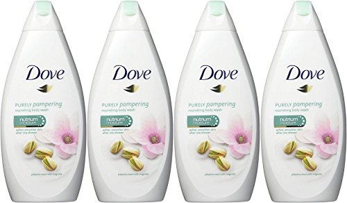Dove Purely Pampering Body Wash, Pistachio Cream with Magnolia, 16.9 Ounce / 500 Ml (Pack of 4) International Version (Best Dove Body Wash Reviews)