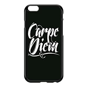 Carpe Diem Black Black Hard Plastic Case for iPhone 6 Plus by textGuy + FREE Crystal Clear Screen Protector