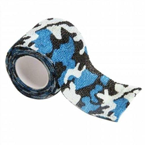 Un rollo de cinta adhesiva Lookout con diseño de camuflaje; rollos sin tejidos elásticos, autoadhesivos para el aire libre y cazar (camuflaje de nieve), Glass Camouflage