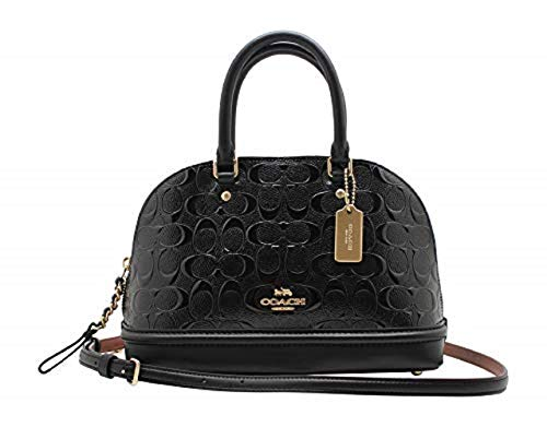 - COACH Womens Leather shell bag F27597 (Black)