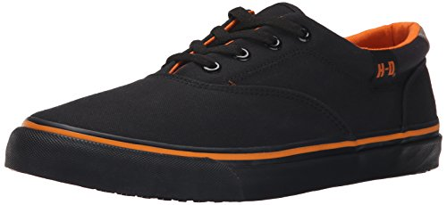 Harley-Davidson Men's Lawthorn Low Prolile Skate Shoe, Black/Black, 10 M US