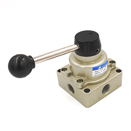 Baomain Rotary lever hand valve HV-03 PT3/8 3 Position 4 Way Pneumatic Air Flow Control