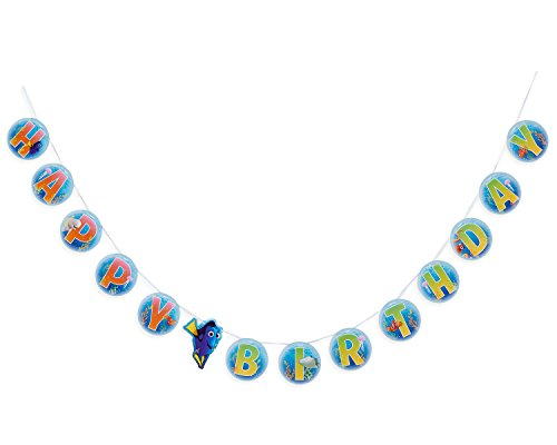 American Greetings Finding Dory Birthday Party Banner (Finding Nemo Birthday Party Decorations)