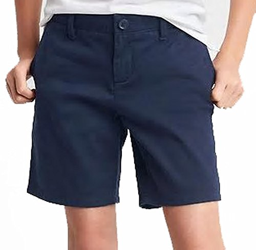 Gap Kids Girls Navy Classic Chino School Uniform Shorts 8