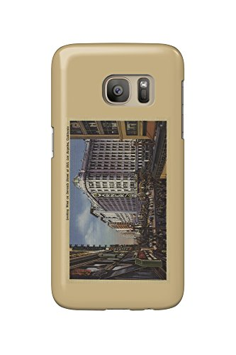 Los Angeles, CA - View of Warner Bros. on 7th St. (Galaxy S7 Cell Phone Case, Slim Barely - 7th Los Angeles St Ca