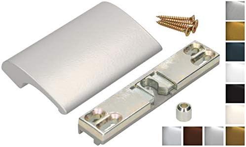 KOTARBAU - Tirador para puerta de balcón, de aluminio, para terraza, balcón, seguro para fumar, para cerrar la puerta, mango universal, Plateado: Amazon.es: Bricolaje y herramientas