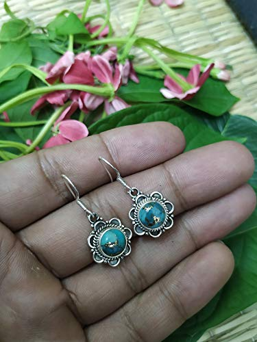 Turquoise Earrings, Wedding Engagement Jewelry, Bridesmaids Gift, Boho Vibes Jewelry, Blue Turquoise Earrings, Sterling Silver Earrings, Southwestern Earrings, Promise Jewelry, Gift For Her/Him