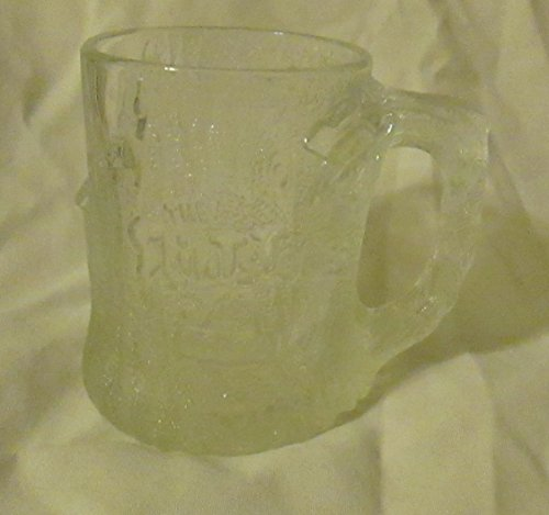 (1993 FLINSTONES CLEAR GLASS COLLECTABLE MUG)