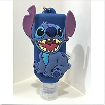 Disney Parks Stitch Hand Sanitizer Holder Bag Hanger Keychain