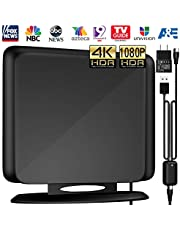 Indoor TV Antenna Amplified Channels - Upgraded Long Range Digital HDTV Antenna High Reception Digital TV Antenna for All Older TVs Fire TV Stick 4K/Vhf/Uhf/1080P Free Channels 13ft Coax