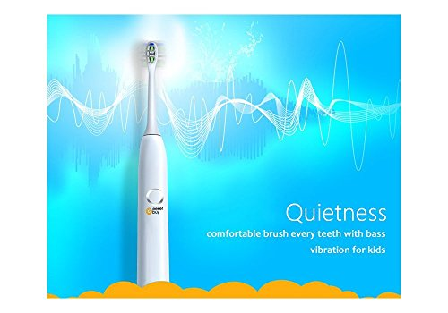 Sonic Toothbrush for Kids Geekerbuy Electric Toothbrush Rechargeable 100 Days Use IPX7 Waterproof Toothbrush with 2 Replacement Heads (Pink) by Geekerbuy (Image #8)