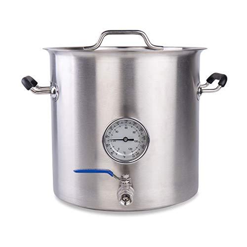 BACOENG Stainless Steel Home Brew Kettle Stock Pot (Weldless Fittings) (25 QT/ 6 Gal) (Best Price On Turkeys 2019)
