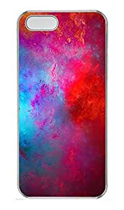 iPhone 5 5S Case Patterns paint red PC Custom iPhone 5 5S Case Cover Transparent