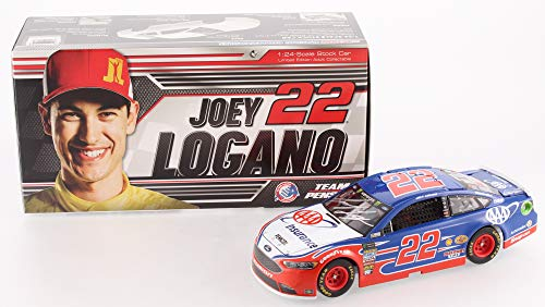 (Authentic Joey Logano Autographed Signed NASCAR #22 AAA Insurance 2018 Fusion 1:24 Limited Edition Premium Action Diecast Car (PA COA))