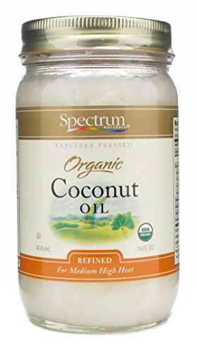 Spectrum Refined Organic Coconut Oil -- 14 fl oz ( Pack of 2)