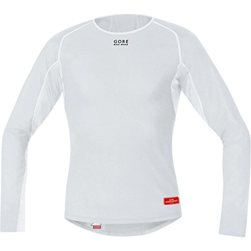 (Gore Bike Wear Men's Windstopper Base Layer Thermo Long Sleeve Shirt, Light Grey/White, Small)