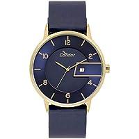 Relógio Masculino Condor COGM10AB/2A - Dourado/Azul