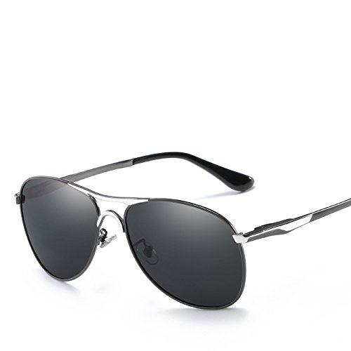 para De con Montura Metálica Anti Cambio De De Conducción Color Sol A Sol UV De Gafas Polarizadas Hombres Gunboxsilver Lente ECHO Gafas De 60vH0q