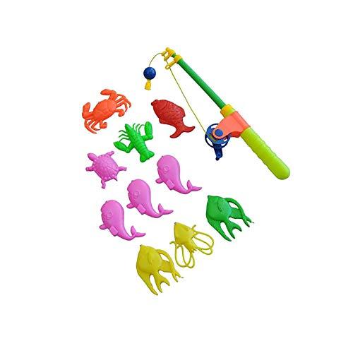 Magnetic Light up Fishing Bath Toy Set for Kids Random Color
