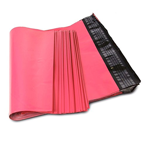 SJPACK 10x13 Hot Pink Poly Mailers 2.5 Mil Envelopes Plastic Shipping Bags with Self Sealing Strip (Shipping Envelopes 10x13)