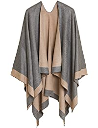 Cardigan Poncho Cape: Women Elegant Cardigan Shawl Wrap Sweater for Fall Winter