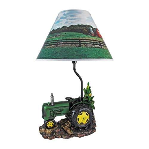 John deere lamps amazon green farm tractor 19 inch table lamp country aloadofball