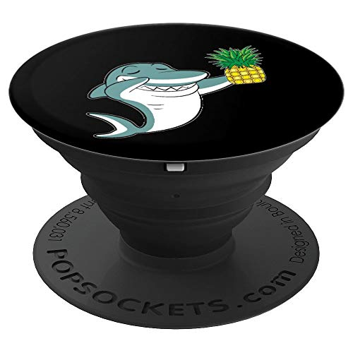 Dabbing Shark Pineapple Aloha Beaches Hawaiian Dance Gift PopSockets Grip and Stand for Phones and Tablets