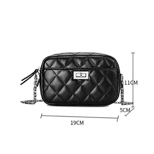 Sauvage Mini Nouveau Mode Dames Main Black Femme Chaîne Pu De À Rhombique Petit Pour Sac Bandoulière 8qYr78